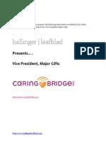Position Profile - CaringBridge - Vice President, Major Gifts