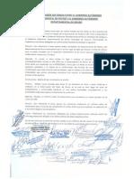 Acta de reunión sostenida entre el Gobierno Autónomo Departamental de Potosí y el Gobierno Autónomo Departamental de Oruro