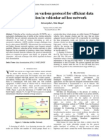 The Research on various protocol for efficient data dissemination in vehicular ad hoc network