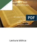 La Biblia y Sus Caracteristicas Cristobal y Fabian
