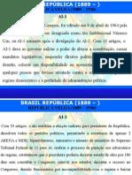 Aula - Brasil República - Atos Institucionais