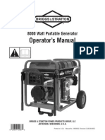 Briggs & Stratton 8000 Watt Portable Generator