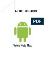 Manual Del Usuario Voice Note Max
