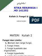 KULIAH 2-MATREK I-Fungsi & Limit.ppt