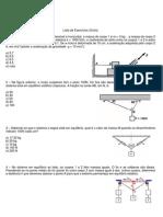 Lista de exercícios FISICA 1