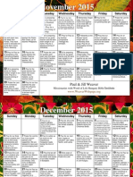 Weaver Prayer Calendar