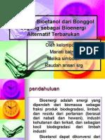 Presentasi Produksi Bioetanol Dari Bonggol Jagung Sebagai Bioenergi Alternatif Terbarukan