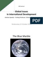 Speedy IRD Seminar Global Issues
