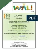 2015 NTFB Diwali Volunteer Experience