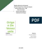 Origen de Venezuela
