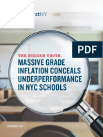 Students First NY Report - Hidden Truth on Grade Inflation in NYC Public Schools