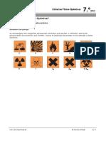 Simbolos e Sinais de Laboratório