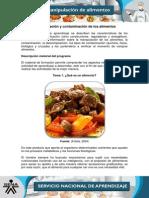 Clasificacion y Contaminacion de Los Alimentos