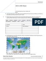 Around the World in 80Days Worksheet