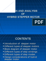 Design and Analysis of Hybrid Stepper Motor