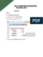 Aplicaciones Funciones Financieras de Excel _2013
