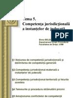 Competența jurisdicțională a instanţelor de judecată