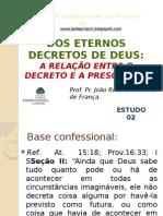 Dos Eternos Decretos de Deus - Estudo 02