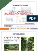 Dosificación de Coagulante y Floculante - PDF