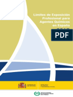 Limites de Exposicion Profesional Para Agentes Quimicos 2015