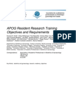 Resident Research Training Objectives (Nc 5-17-2011)
