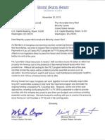 Tester, Daines PILT Letter (Nov, 2015)
