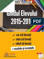 Ghidul elevului 2015