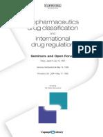 Biopharmaceutics Drug Classification and International Drug Regulation 1