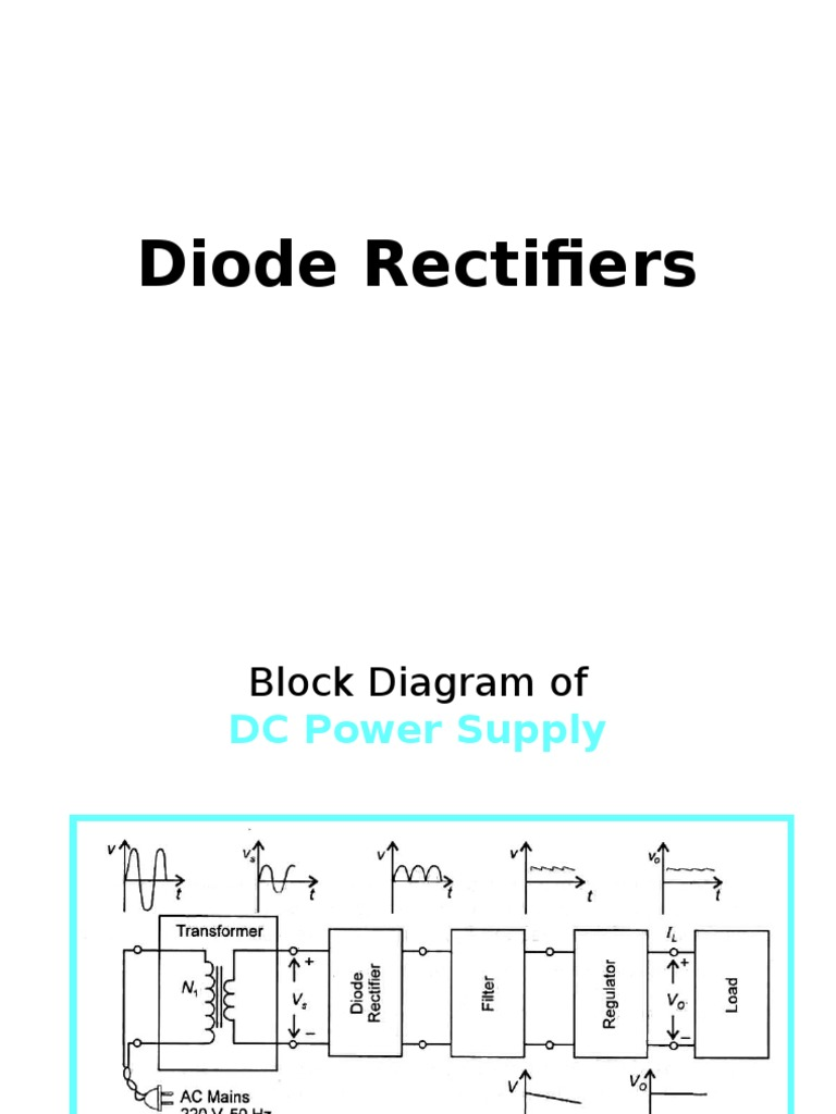 4rectifiers Rectifier Diode Block Diagram Dc Power Supply