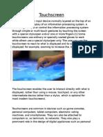 Touchscreen Technology