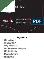 Intro to ITIL WatITis2012