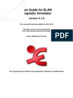 User Guide for ELAN Linguistic Annotator