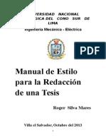Manual Para La Redacción de Una Tesis