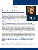 Profiles in Public Integrity - Marjorie Landa