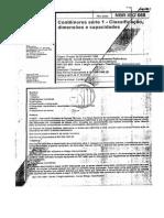 NBR ISO 668 - Classificação - Dimensão - Capacidade(1)