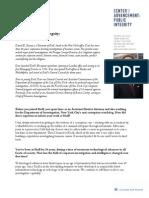 Profiles in Public Integrity - Dan Karson