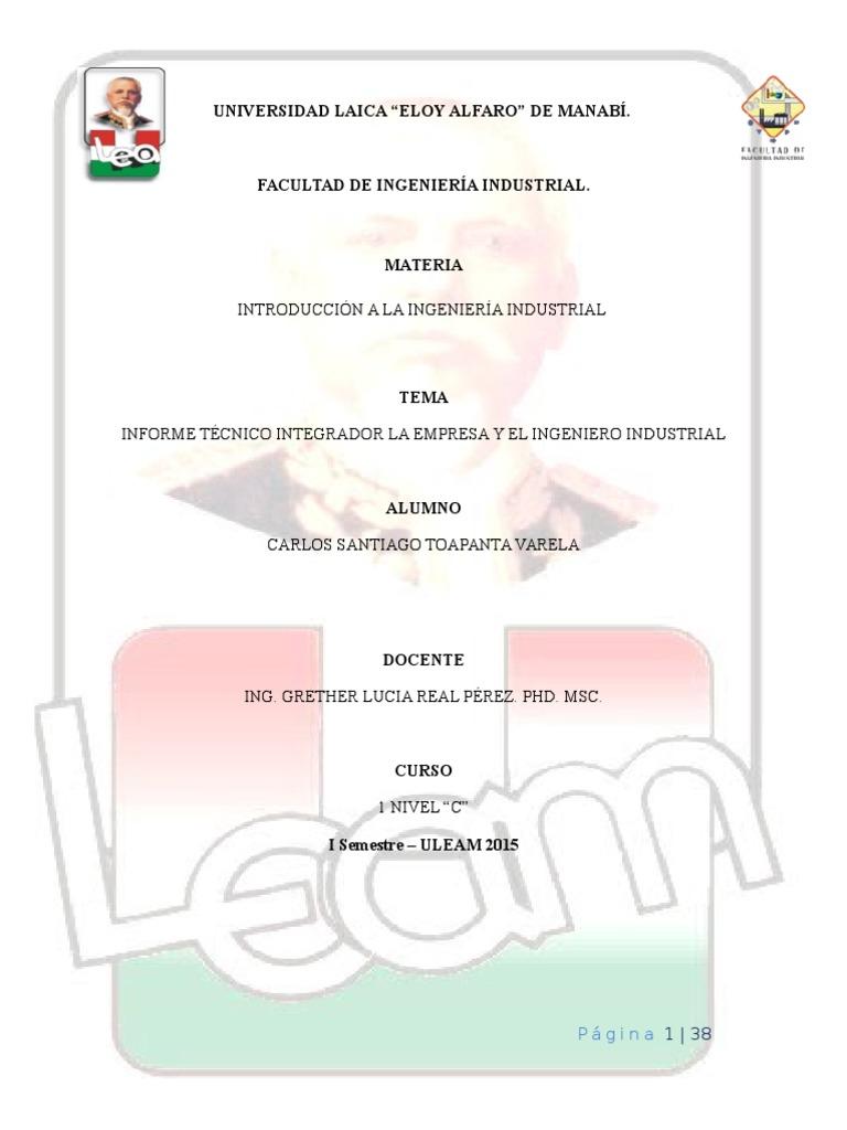 Informe de Introduccion a la Ingenieria Industrial