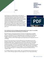 Profile in Public Integrity - Lynda Taschereau