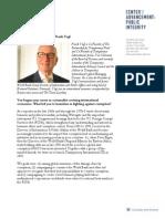 Profiles in Public Integrity - Frank Vogl