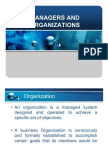 Managers and Organizations