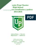 Manual para Padres y Estudiantes de UPCHS (2015-2016)