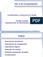 Condicionales e Iteraciones scilab