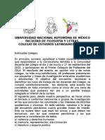 Carta Formacion de Seminarios Post Coloquio