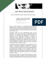 Biografía Joseph Alois Schumpeter