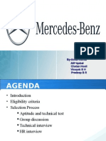 Mercedes Benz Experience Ppt_Mech Dept