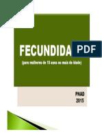 fecundidade - pnad 2015