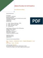SAP IDES Installation Procedure for SAP Install on W2k server