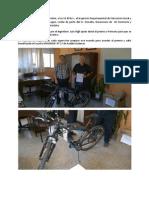 Bicicleta Donada Por Ing.vigil a Primaria