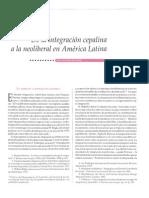 De La Integraciòn Cepalina a La Neoliberal. Guillen