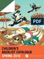 Chronicle Books UK Spring 2016 Children's Backlist Catalogue